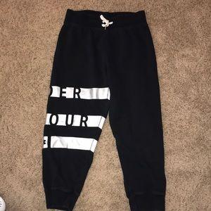 Black Capri sweatpants